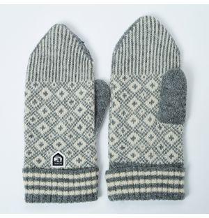 Women's Fryken Wool Mittens Grey Size 10
