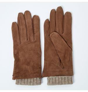 Women's Megan Suede Gloves Brown Size 6