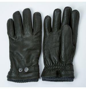 Men's Utsjö Elk Leather Gloves Khaki Size 11