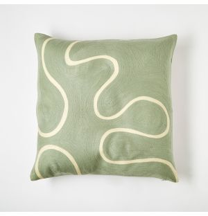 Cecilie Squiggle Cushion Cover Blue 45cm x 45cm