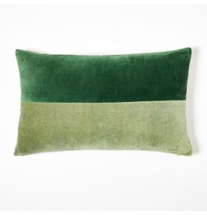 Tonal Velvet Cushion Cover Sage & Green 30cm x 50cm