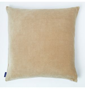 Velvet Cushion Cover Natural 50cm x 50cm
