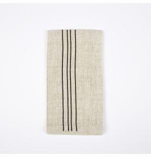 Vintage Stripe Napkin Black
