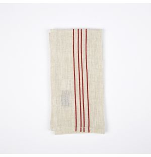 Vintage Stripe Napkin Red