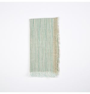 Frayed Stripe Napkin Green