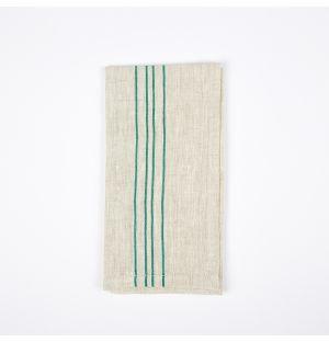 Vintage Stripe Napkin Green