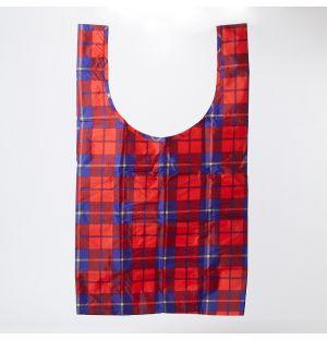 Reusable Tote Bag Red Tartan