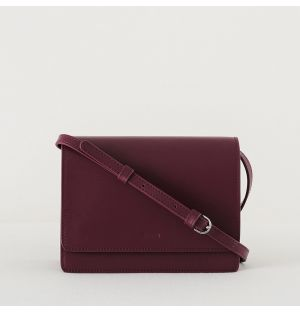 Structured Crossbody Bag Cranberry Small