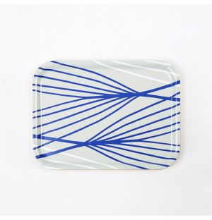Abstract Lines Tray Grey Small