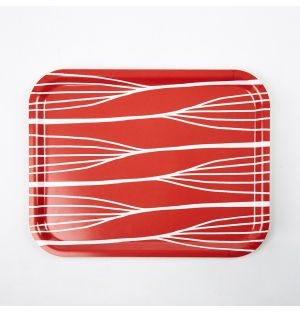 Abstract Lines Tray Red Medium