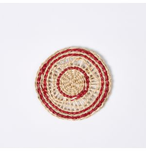 Sapa Woven Coaster Red