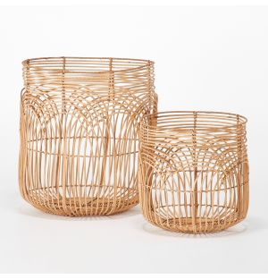 Rattan Baskets Set of 2