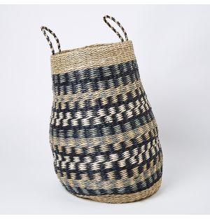 Pattern Seagrass Basket Large