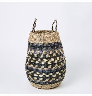 Pattern Seagrass Basket Small