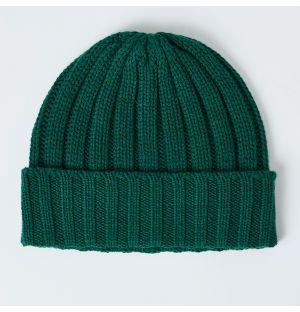 Cashmere Rib Hat Spruce