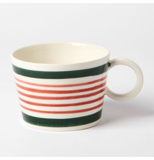 Stripe Mug Green