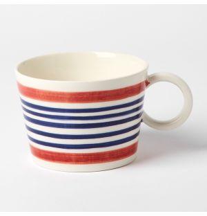Stripe Mug Red