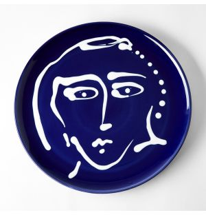 Face Plate Blue 32cm