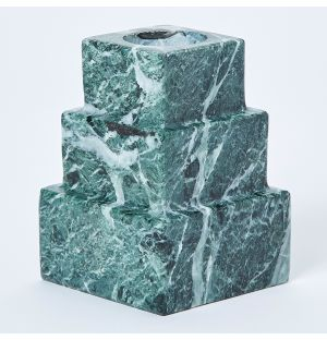 Marble Square Vase Green 13cm