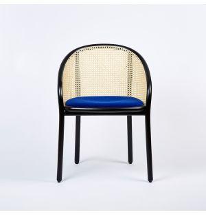 Ex-Display Latis Chair in Black Ash & Blue Upholstery