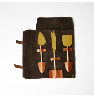 Cheese Knives Set Dark Brown