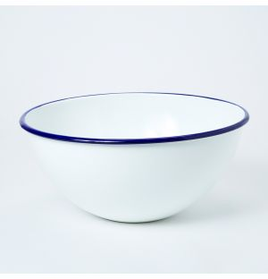 Kitchen Bowl Blue Rim