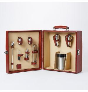 Leather Bottle Carrier & Kit in Tan