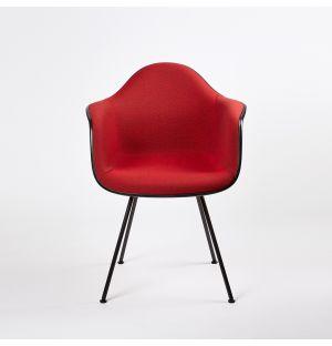 DAX Plastic Armchair Dark Base & Hopsak Upholstery