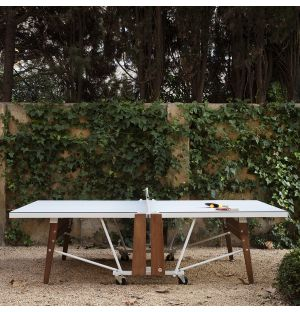 RS#PingPong Folding Ping-Pong Table in White