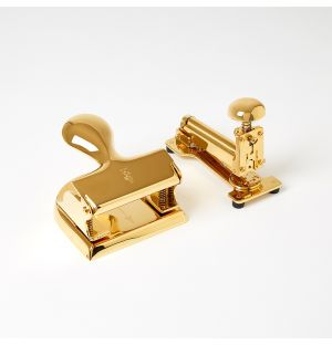 Stapler And Hole Punch Set 23kt Gold