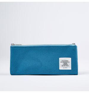 Double Zipper Pencil Case Sky Blue