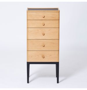Exclusive Monument 5-Drawer Tallboy in Oak & Ash