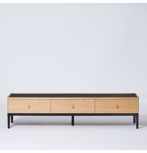 Exclusive Monument Low Console in Oak & Ash