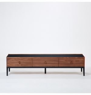 Exclusive Monument Low Console in Walnut & Ash
