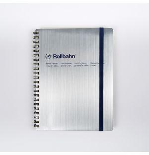 Rollbahn A5 Spiral Diary Silver