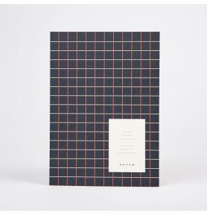 VITA Notebook Dark Blue Grid Medium