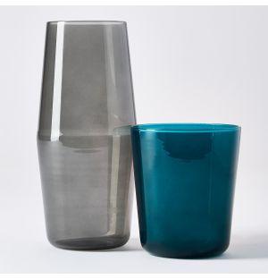 Luisa Bonne Nuit Carafe & Glass in Blue & Grey