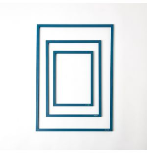 Petrol Blue Metal & Rubber Band Frame
