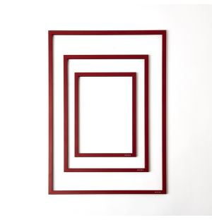 Red Metal & Rubber Band Frame