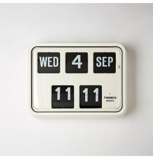 Series 17 Flip Clock & Calendar White
