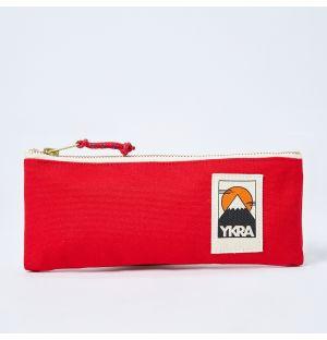 Canvas Pencil Case Red