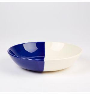Dip Pasta Bowl Cobalt & Cream 22.5cm