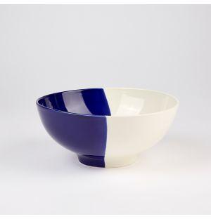 Dip Deep Salad Bowl Cobalt & Cream 24cm