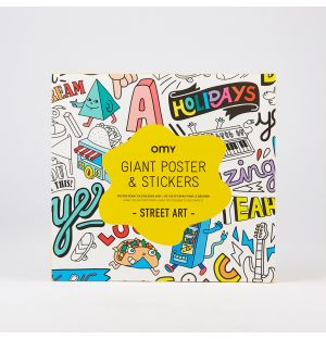 Street Art Giant Poster & Stickers