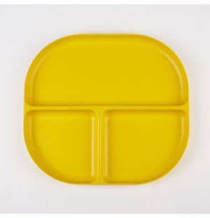 Bamboo Divided Tray Lemon