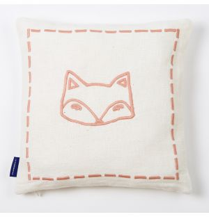 Embroidered Fox Cushion Cover 30cm x 30cm