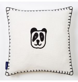 Embroidered Panda Cushion Cover 30cm x 30cm