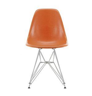 DSR Fiberglass Side Chair Chrome Base