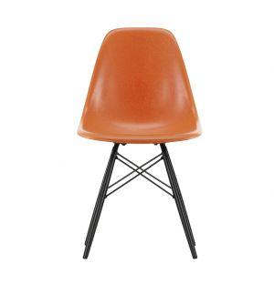 DSW Fiberglass Side Chair Black Maple