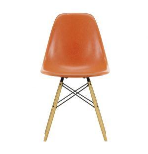 DSW Fiberglass Side Chair Golden Maple Base